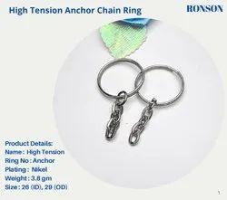 Steel Anchor Chain Keychain Ring