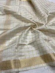 Chanderi Check Pattern Dupatta