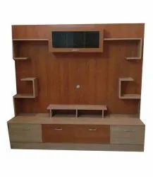Brown Wooden Free Standing TV Unit, For Home, For Led
