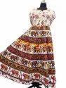 Sanganeri Print Maxi Dress