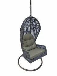 Hanging Swing, Single Seater, GC-150, Silver cum Black, Khakhi Cushion