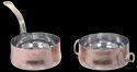 Copper SS Hmrd Belly Pan & Casserole