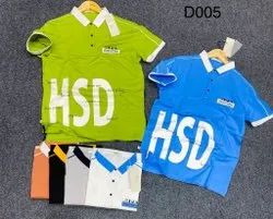 3 Button Collar Men Shirts Half