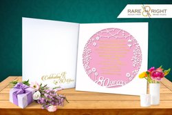 Bookstyle Special Paper Birthday Invitation card