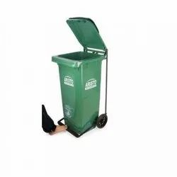120Ltrs wheel dustbin with pedal