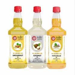 IndicWisdom Oils Combo 007 (Sesame Oil 1 Liter, Groundnut Oil 1 Liter, Coconut Oil 1 Liter)
