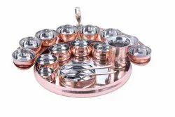 Grand Maurya Copper Thali Set