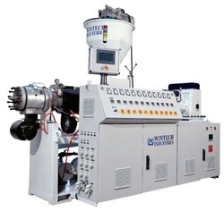 Automatic 3 Phase Twin Screw Extruder, PVC Pipe, Production Capacity: 110 Kg/Hr To 700 Kg/Hr