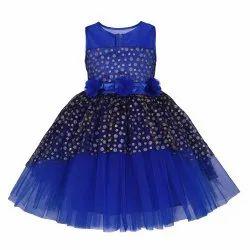 Girl Toy Balloon Kids Fashion Blue Colour Frock