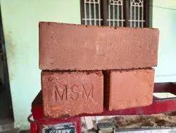 Orange Rectangular MSM Clay Brick, Size: 3 X 4 X 9 (d X H X W) Inch