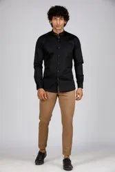TECIDO Plain Mens Satin Cotton Shirt