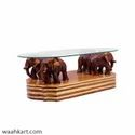 Brown color Elephant Center Table (without glass)