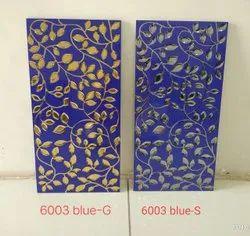 Blue highlighter wall tiles