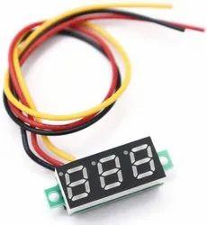 Unique India Sales 0.28 Inch 0-100V Three Wire DC Voltmeter Red
