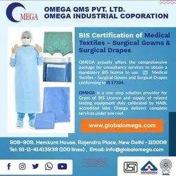 BIS Certification for  Medical Textiles Surgical Gowns and Surgical Drapes IS 17334