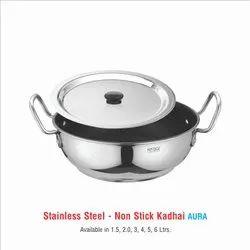 Stainless Steel Non Stick Kadhai Aura -4 Ltr