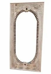 Brown Polished 36x72inch Wooden Mirror Frame