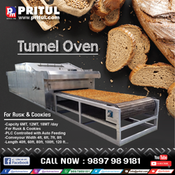 Rusk Baking Tunnel Oven