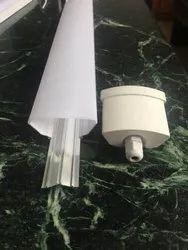 LED Al+Pc Tri Proof Tube Light Housing For Industrial