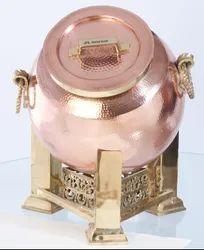 Copper Mughlai Handi Chafing Dish