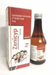 Cyproheptadine Hcl Tricholine Citrate