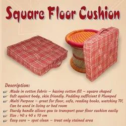 Floor Cushion Pouf, Square Floor Pillow Seating cushion, Thick Tufted