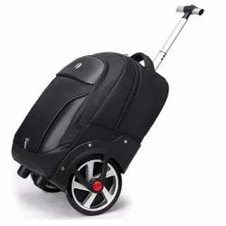 SKY Venture Polyester 30 L Two Wheel Laptop Travel Trolley Backpack (Black)