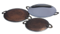 Smokey Finished Copper Steel Tawa Dishes