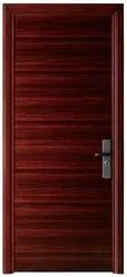 Wood Finish Brown Entrance Steel Single Door, For Home