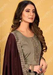 Bridal Wear Multicolor Designer Silk Salwar Suits
