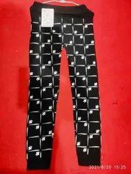 Mid Waist Designer Printed Leggings, Casual Wear, Skin Fit