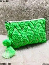 Designer Dari Cotton Handloom Pouch Bag - Cotton Handloom Dari Bag