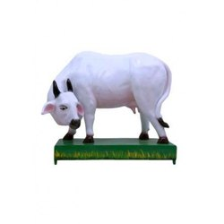 Life Size Fiber Cow Statue