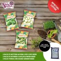 Combo Offer (Bittergourd+Cauliflower+Tinda) With Vermicompost Free