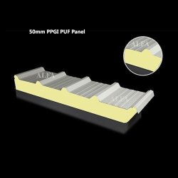 50mm PPGI Sandwich Roof PUF Panel
