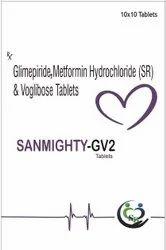 Glimepiride 2mg And Metformin 500mg And Voglibose 0.2mg--sanmighty-gv2
