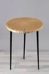 MOTIFF CRAFTS IRON & ALUMINIUM Side Tables, For Home, Size: 54 cm