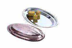 Copper Steel Oval Snacks-Salad Platters