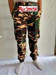 Mix Printed Army Print Cargo Pants