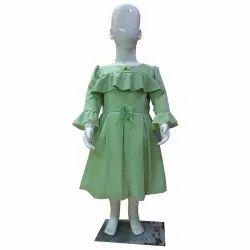 Girl Green Full Sleeve Frock