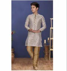 Silk Fabric Exclusive Readymade Boy's Kurta Paijama Kids Wear