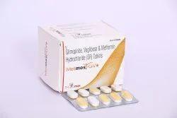 Metformin Hcl 500mg+Glimipride 2mg+Voglibose 0.3Mg