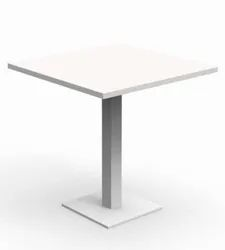 MS White Restaurant Table, Size: 3 X 3 X 5 Ft