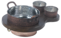 Concept Round Casserole/Brazier with Dip Bowls & Underliner