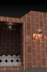 Jaali With Surface Panel Light