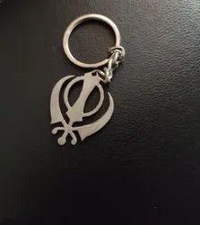 Silver Metal Key Chain, Size: 120 X 100 Mm