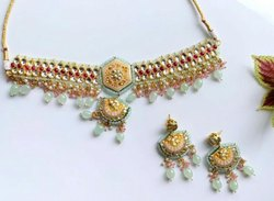 Designer Emerald Choker Necklace