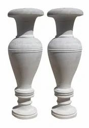 White Indoor Marble Flower Pot, For Home And Hotel, Size: 2.8 Feet