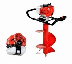 Mecstroke Heavy Duty 82CC Petrol Earth Auger with Stand Trolley