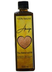Cold Pressed 500ml Amaya Pure Mustard Seed Oil, Packaging Type: Plastic Bottle
